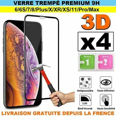 Verre Trempe Iphone 8/7/6/X/Xs/Xr/11 Plus Ecran Film Vitre Protection Integrale