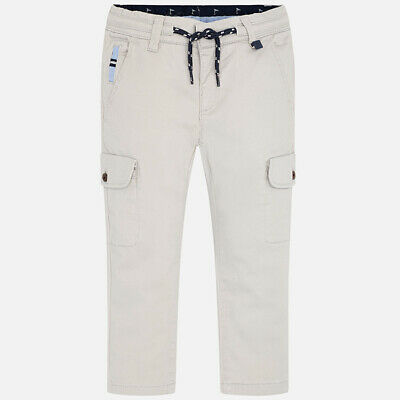 Mayoral Boys Chino Style Cargo Trousers in Stone (03533) Aged 2-8 Years