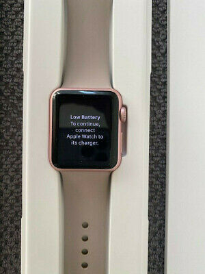 Apple Watch Series 1 38mm Aluminiumgehäuse in Roségold mit Sportarmband in...
