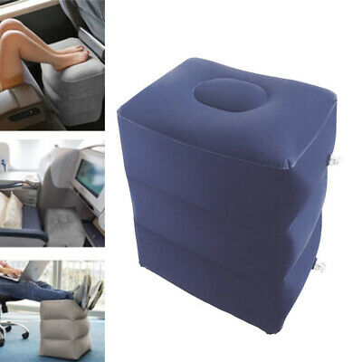 Air Pillow Cushion Inflatable Footrest Travel Office Home Airplane Leg Relax Pad