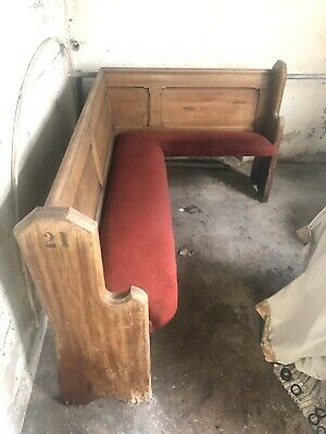 Original Oak Church Pew