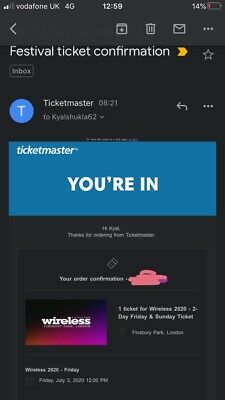 Wireless Festival Sunday 2020 Ticket
