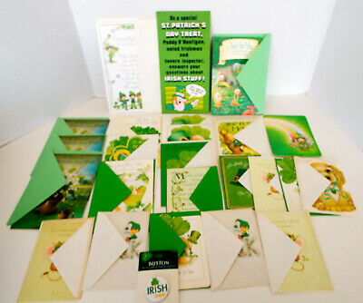 St Patrick's Day Hallmark Cards Unused 25 Piece Collection Irish New Old Stock