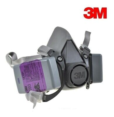 3M 6200 Half Facepiece Respirator W/ 2 Each 7093 P100 Particulate Filter, MEDIUM
