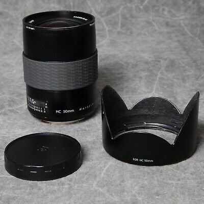 Hasselblad H Hc 50Mm Wide Angle Lens, Lens Caps & Hood In Very Good Condition