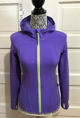 IVIVVA by Lululemon Practice Hoodie Jacket Size 12 Power Purple Thumbholes