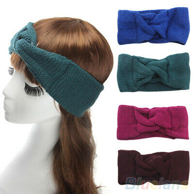 Women Knitted Turban Twisted Knotted Hair Band Warmer Head Wrapping Headband