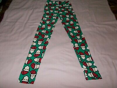 Girls LuLaRoe Leggings Pants Size Tween Green Red Beige White Santa's