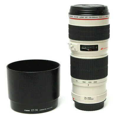 Canon Zoom Lens EF 70-200 1:4 L USM - Used Excellent Condition w/ Hood,Caps