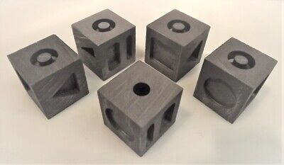 7-In-1 Graphite Moulds: 7 Different Gold/Silver Ingots Cube: Traditional Style