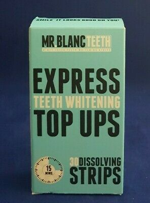 Mr Blanc Teeth - Express Teeth Whitening Top Ups - 30 Dissolving Strips