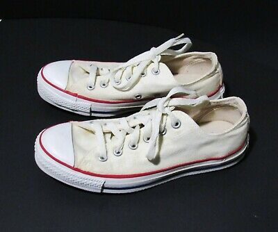 Vintage Converse All Star Low Top Sneakers Size 5.5 Usa Off White