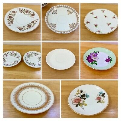 Vintage Mismatched China Cups,Saucers, Plates, Cake Plates Weddings,Tea Party