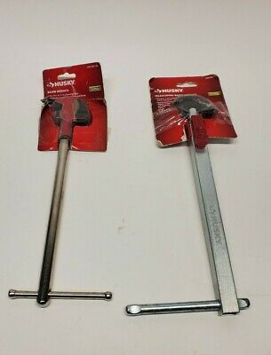 Lot of Husky 1-1/2 in. Telescoping Basin Wrench, And non telescoping wrench