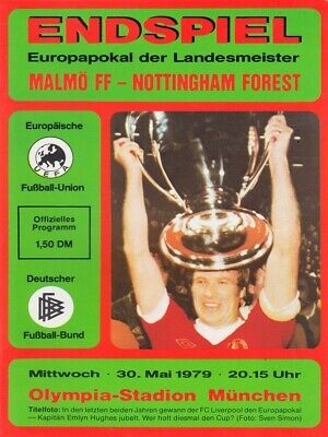 1979 European Cup Final - Football Programme - FF Malmo v Nottingham Forest