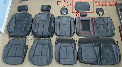2015 - 2020 Oem Ford F150 Super Crew Takeoff Black Leather Seat Upholstery Set