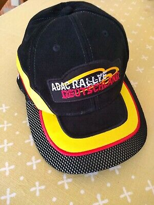 Black ADAC Rallye Deutschland Embroidered hat cap adjustable Strap neu
