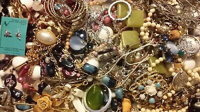 #13 Vintage To Now Estate Find Jewelry Lot Junk Drawer Unsearched Untested Wear