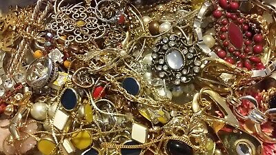 #15 Vintage To Now Estate Find Jewelry Lot Junk Drawer Unsearched Untested Wear