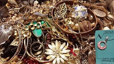 #17 Vintage To Now Estate Find Jewelry Lot Junk Drawer Unsearched Untested Wear
