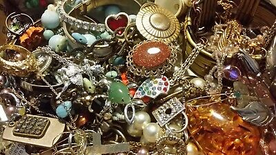 #18 Vintage To Now Estate Find Jewelry Lot Junk Drawer Unsearched Untested Wear