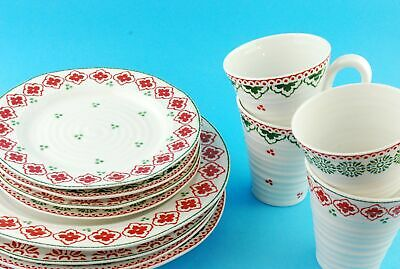 Sophie Conran For Portmeirion Set Of 4 Tea Cups, Side Plates & DinnerPlates
