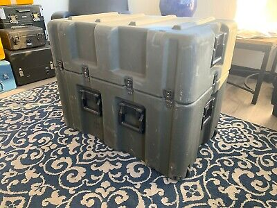 Pelican Hardigg Military Footlocker WITH WHEELS Transport Storage Case -OVERSIZE