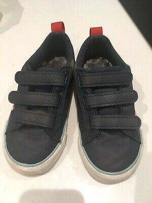 Zara kids boys Blue trainers size 26/27 velcro infant