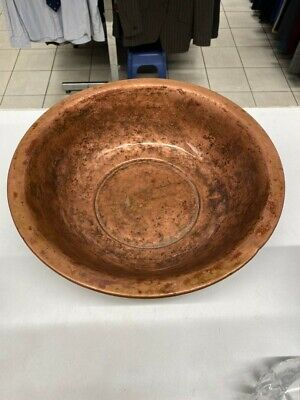 M.M & Sons 1924 Vintage Arts &Crafts Copper Round Bowl Needs A Clean Collect LU3