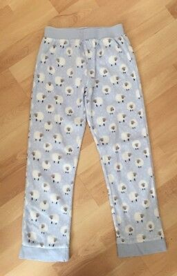 New Debenhams Bluezoo Age 9-10 Years Girls Pj Pyjama Bottoms Trousers Blue White