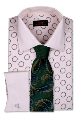 Dress Shirt Only by Steven Land Classic Fit-French Cuff-Yellow//Orange DW1805-YL