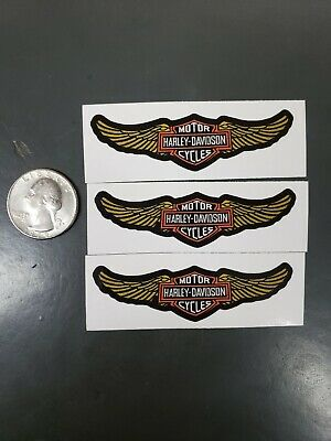 Harley-davidson motorcycle decals sticker. Patch design turned 3 small stickers.