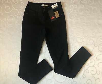 NWT Girls MUDD Black Jean Legging Flex Stretch Adjustable Waist Size 12