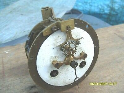 Clock Parts Open Face Striking Movement Dusty  Spares To  Repair