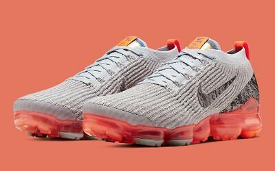 Nike Air VaporMax 3.0 Flyknit Moon Landing Grey Orange AJ6900-001 Men's 11 Shoes