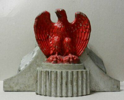 GREAT early and large cast iron EAGLE Flag Holder 1930's or earlier