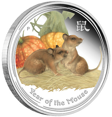 ANDA Money Expo Special 2020 Year of the MOUSE 2oz Silver Proof Colored $2 Coin