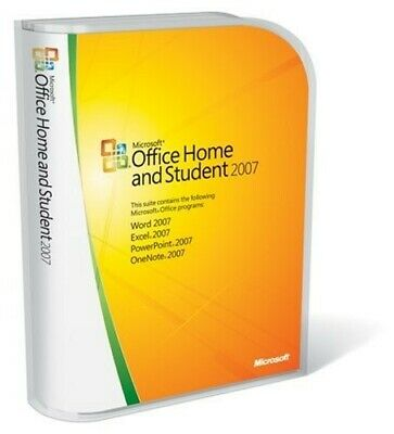 Microsoft Office Home and Student 2007 (Retail) - Full Version for Windows...