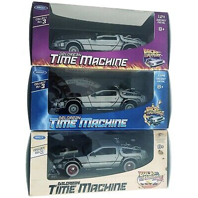 Back To The Future: Parts I, Ii, & Iii Delorean Time Machine 1:24 Die Cast Cars