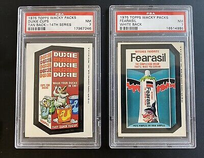 1975 Topps Wacky Packages 14th Series PSA 7 DUXIE & FEARASIL