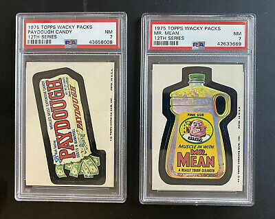 1975 Topps Wacky Packages 12th Series PSA 7 PAYDOUGH & MR. MEAN