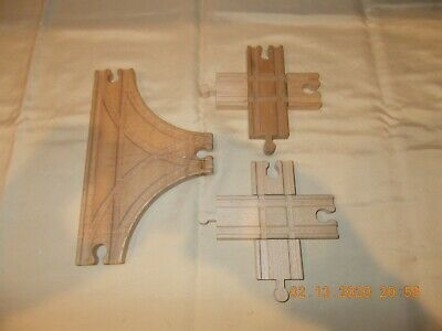 MAXIM 50920~Buffer Stops w//Intersection~Wooden Tracks~Thomas-BRIO Comp~Ages-3+