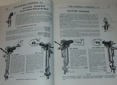 Vintage 1962 Durkee Co Marine Hardware & Equipment Catalog! Chelsea Clock/Prices