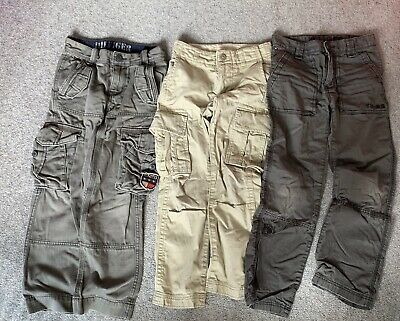 AS NEW Boys Tommy Hilfiger Jeans & Gap Beige Chino Trouser Pants Size 7-8