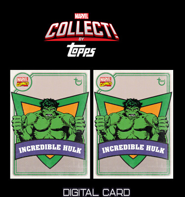 2X 2020 OLD SCHOOL INCREDIBLE HULK Topps Marvel Collect