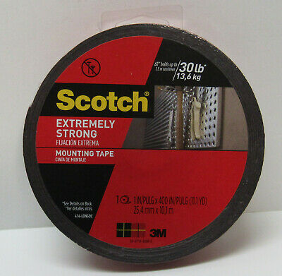 Scotch Mounting Tape Permanent Double Sided Extreme 1 in x 11.1 yds