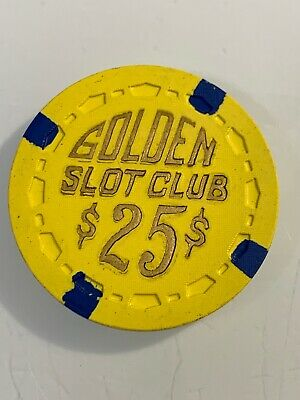 RARE 1955 GOLDEN SLOT CLUB $25 Casino Chip Las Vegas Nevada 3.99 Shipping