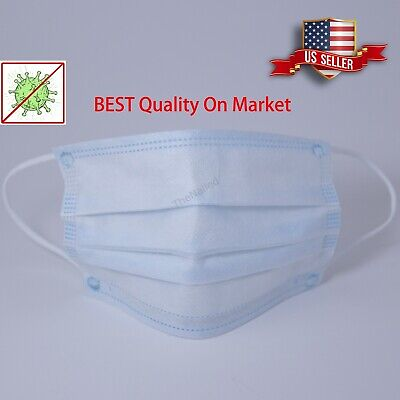 Disposable Face Mask 50PCS Medical Surgical Dental 3Ply Ear Loop Mask Mouth Mask