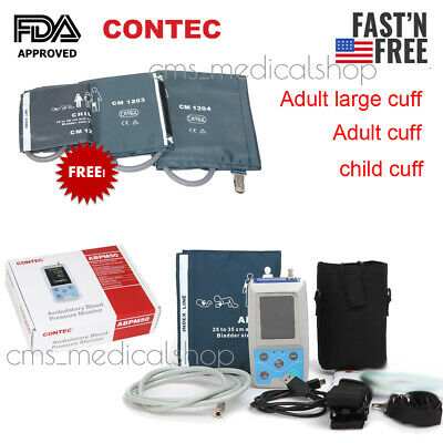 CONTEC Ambulatory Blood Pressure Monitor NIBP Holter USB Software 24 Hour Record