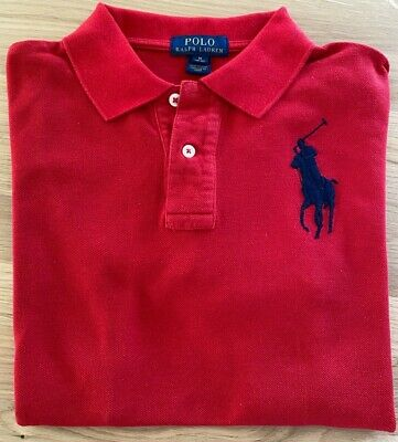 ***Genuine Boys Ralph Lauren Polo Top Red - Age 10-12 Years***